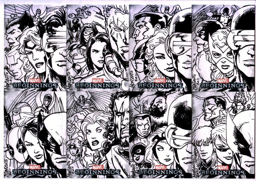 Marvel Beginning sketchcards A by gammaknight