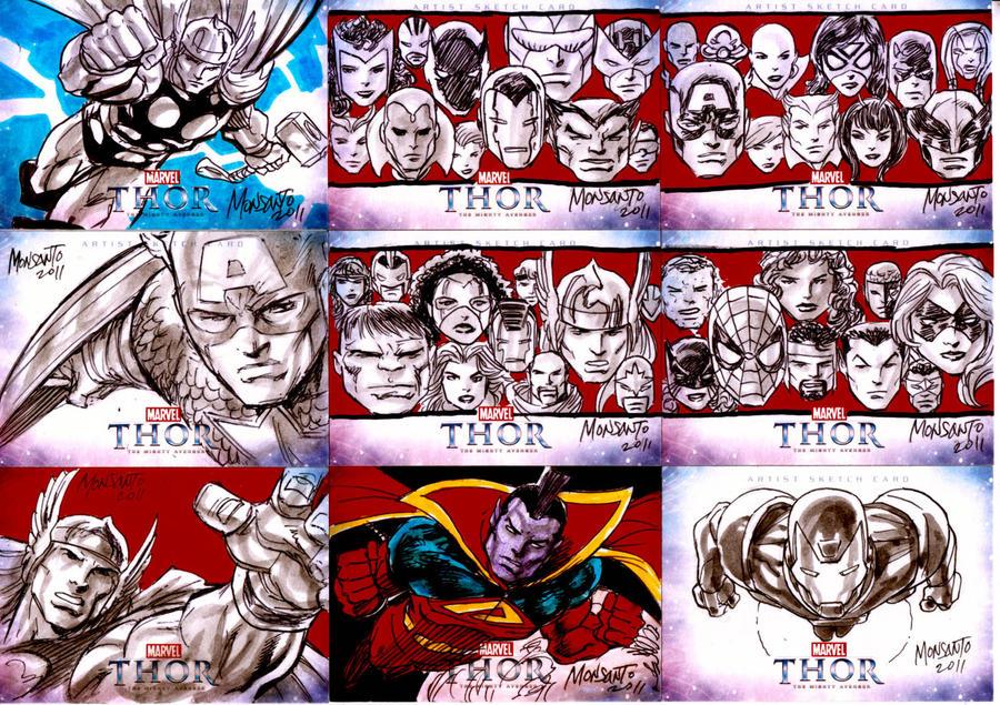 Thor sketcards B by gammaknight