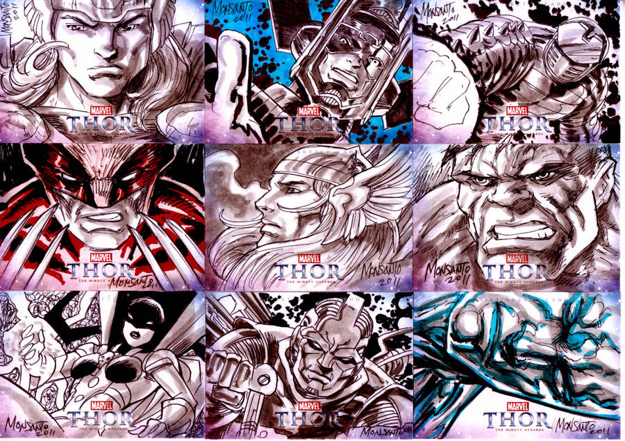 THOR sketchcards C by gammaknight