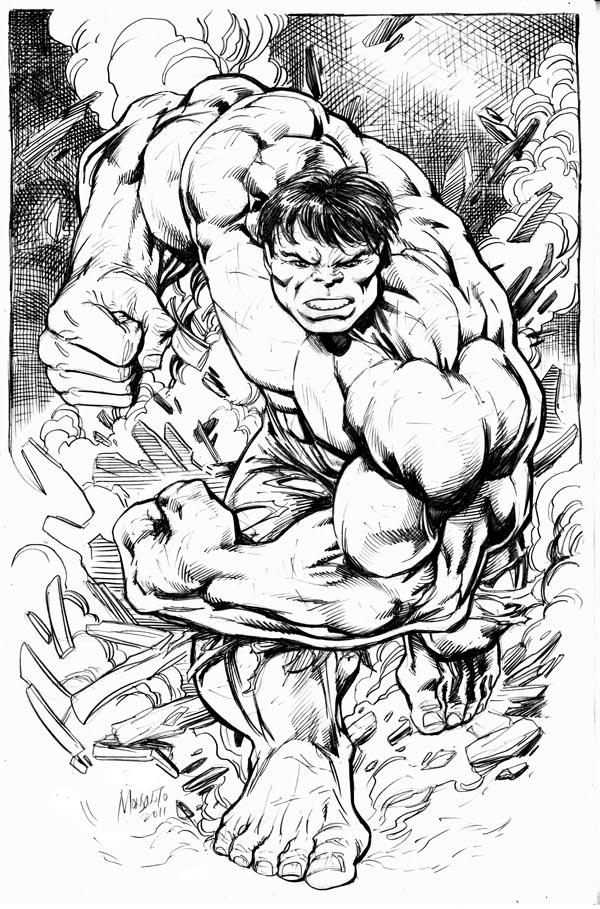 classic HULK pencil art by gammaknight