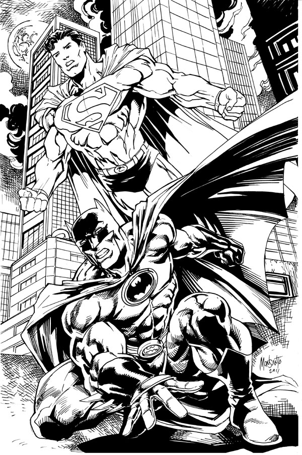bruce and clark by gammaknight