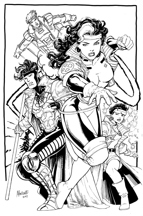 xmen team 2 inked WIP by gammaknight
