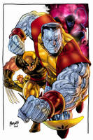 Xmen group 1 color by gammaknight