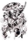 Avengers set 1 ink washed