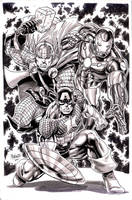 Avengers PRIME ink washed by gammaknight