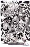 Avengers PRIME ink washed