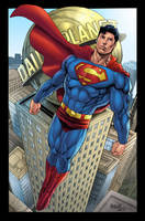 Superman over Metropolis by gammaknight