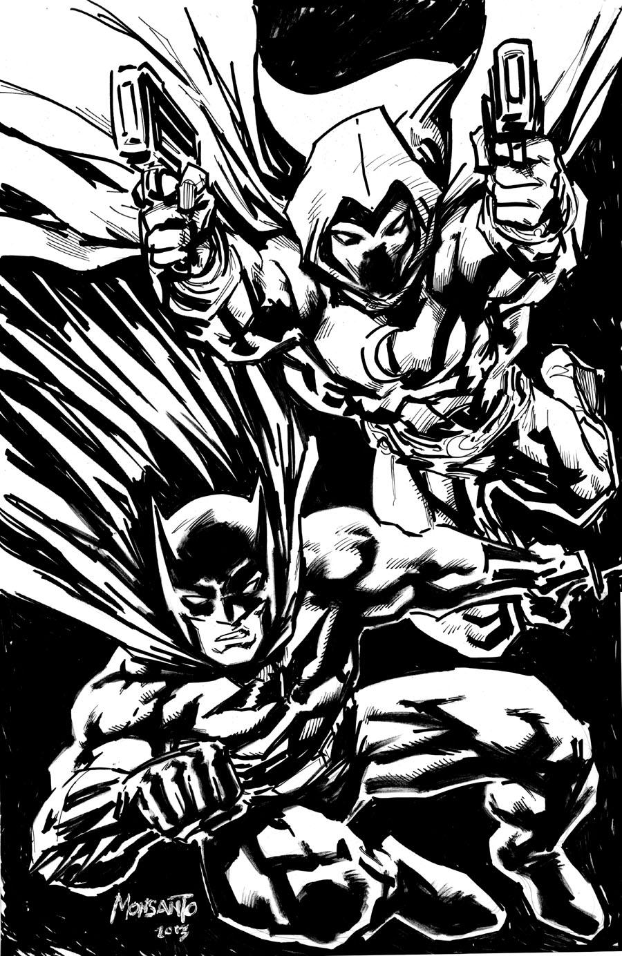 Batman and Moon Knight by gammaknight