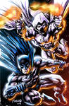 Batman and Moon Knight with effects