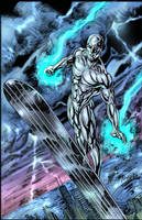 silver surfer pin-up by gammaknight