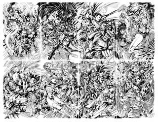 DC 52 vs Marvel Now 8 pieces puzzle art