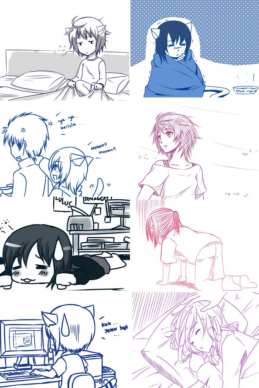 Random doodle by kairikazu