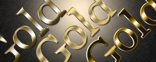 Premium Gold Photoshop Styles by newdesignstuff