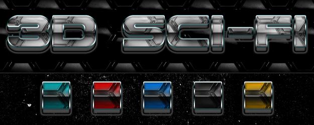 3d Sci Fi Futuristic Photoshop Styles by newdesignstuff