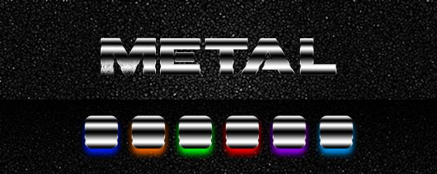 Premium Metal Photoshop Styles by newdesignstuff