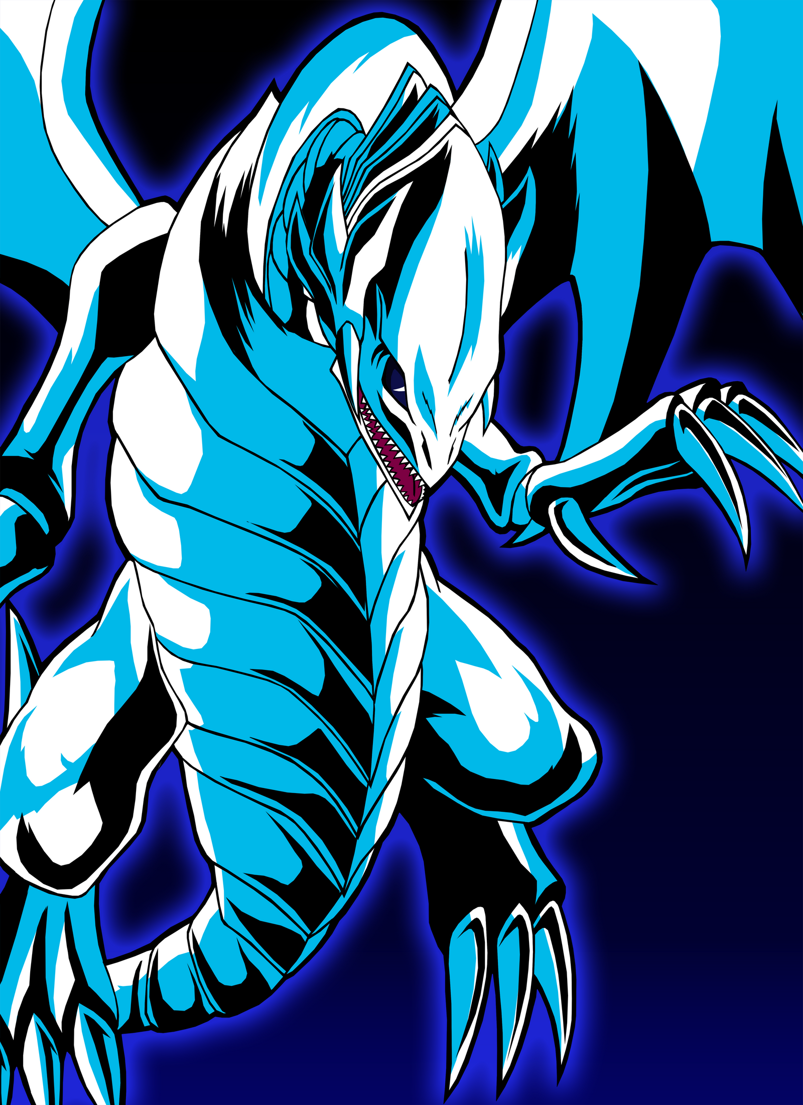 Blue Eyes White Dragon by Chase-TH on DeviantArt