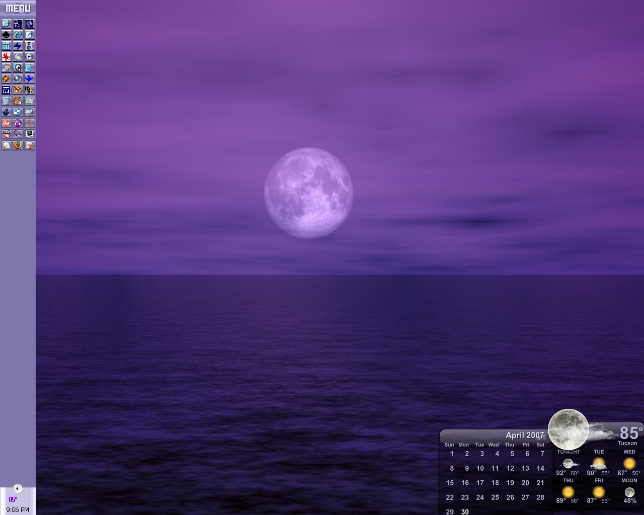 Under A Full Moon Desktop by devildoll