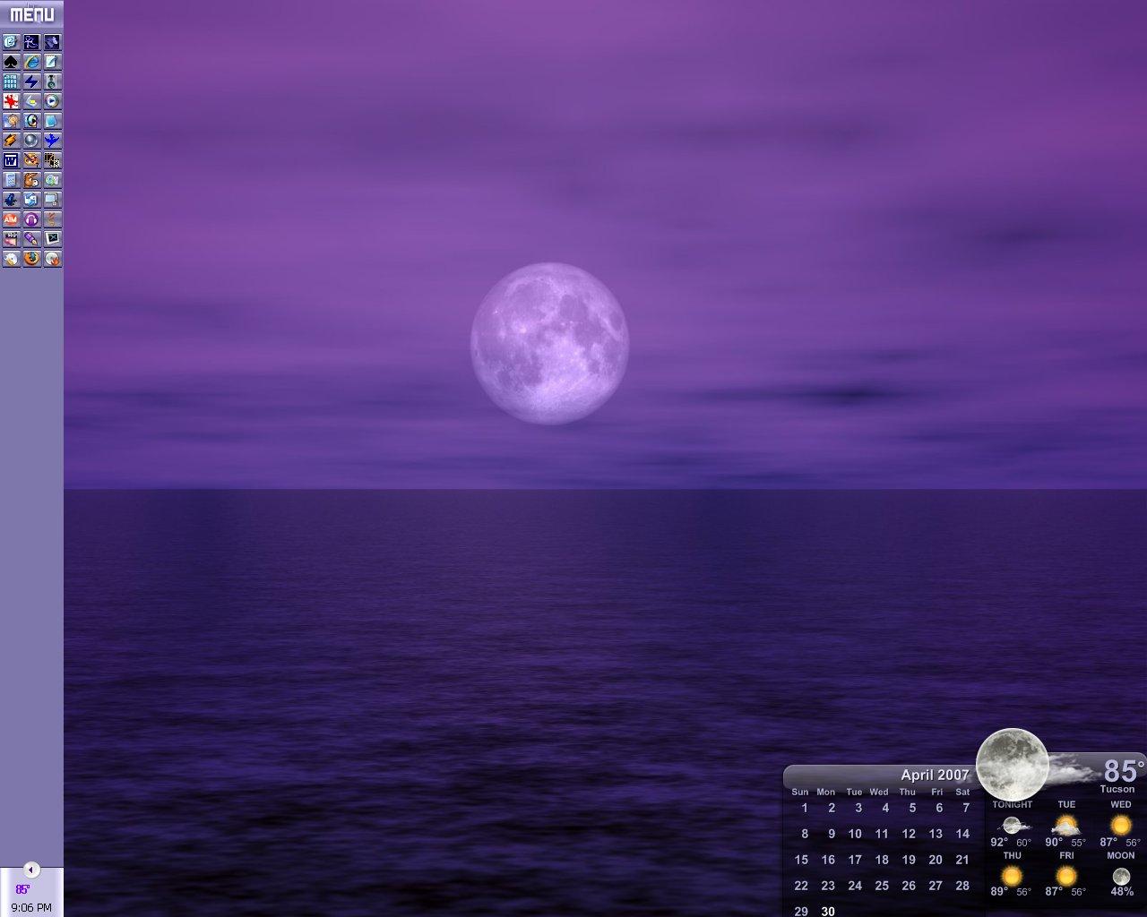 Under A Full Moon Desktop by AshlieNelson