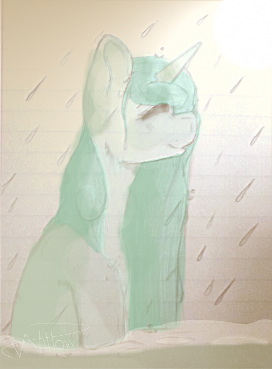 The Rain Speaks for Me /REDRAW/ by Pastel-Is-Rainq