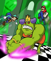 Mario and Luigi VS. Queen Bean by GlennSueznin