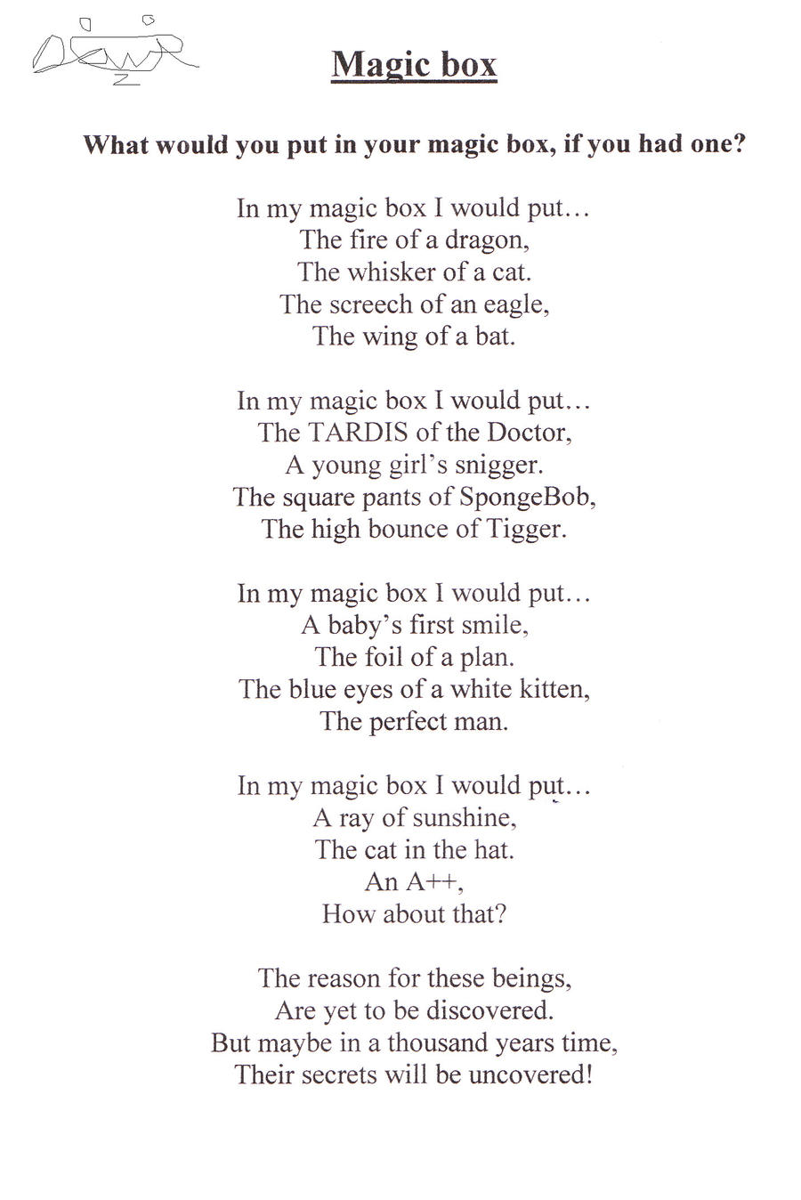 Magic Box Poem by DannyFerb on DeviantArt