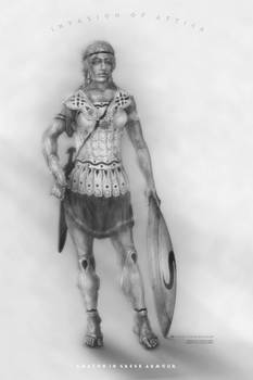 Amazon in Greek Armour