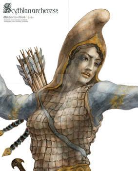 Scythian Archeress | Detail
