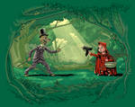 Red Riding Hood Vs The Big Bad Wolf by MauriceCampobasso