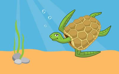 Sea turtle by niknars