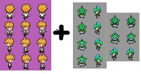 Roxas (Pokemon BW-2) Sprite by alexcubeecraftxDXDXD