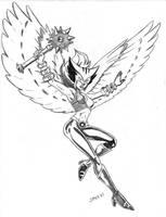 HawkGirl by Speezi