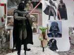 Star Wars Darth Vader and Yoda Sculptures