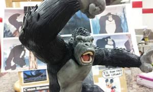 King Kong figure sculpt view 1 by Speezi
