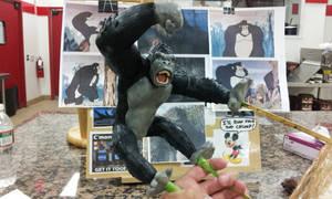 King Kong figure sculpt view 2