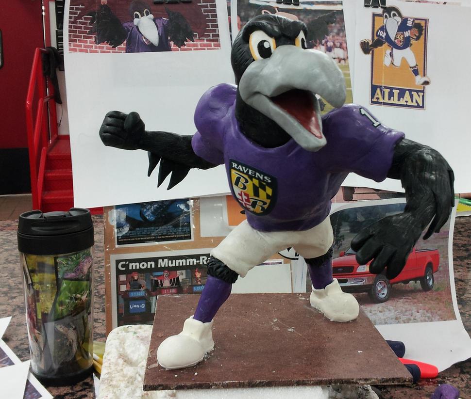 Baltimore Ravens Mascot Sculpt By Speezi On Deviantart