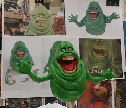 Slimer from Ghostbusters sculpt