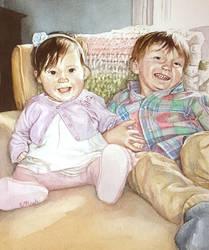 Siblings on the Sofa