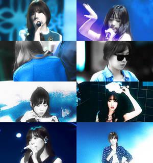 taeyeon in blue