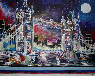 Goodnight Tower Bridge by LauraHolArt