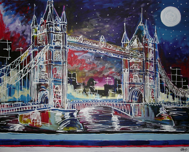 Goodnight Tower Bridge by LauraHolArt