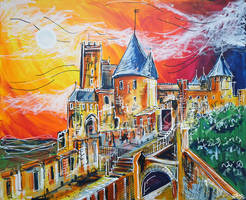 Carcassonne by LauraHolArt
