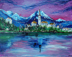 Lake Bled by LauraHolArt