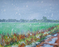 Snowing by LauraHolArt