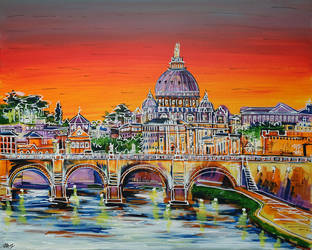 Rome is Where the Heart is by LauraHolArt