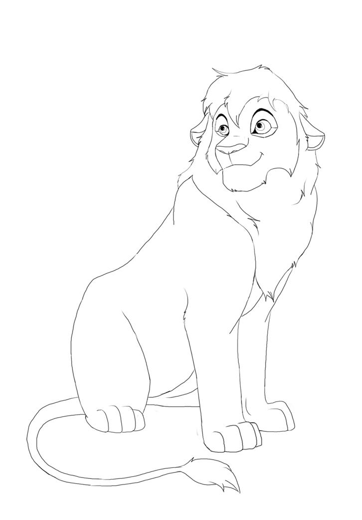 Line Drawing Of Lion : Lion lineart by splasher on deviantart