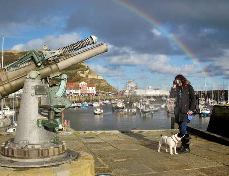 Photographer and Snoop at Scarborough