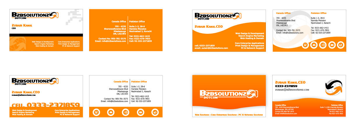 B2B Solutionz - Business Cards by DrDuke on DeviantArt