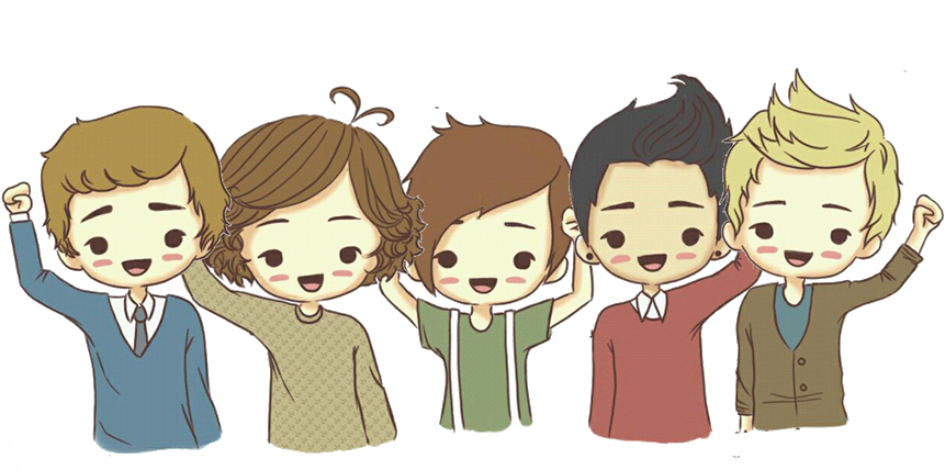 One direction en caricatura PNG by ValuEdiciones on DeviantArt