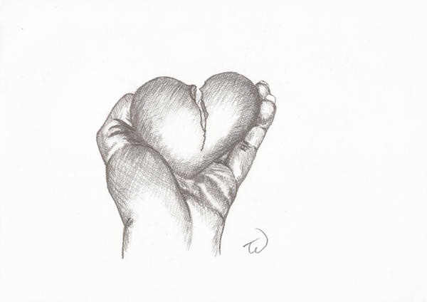 How to Draw a Broken Heart  Really Easy Drawing Tutorial