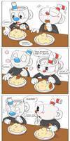 Mugman's hiccups by Chikuseren